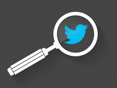 Blog Graphic twitter analysis search magnify texture shadow illustration