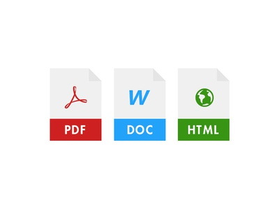 Document Icons documents document icons word pdf icons flat ui