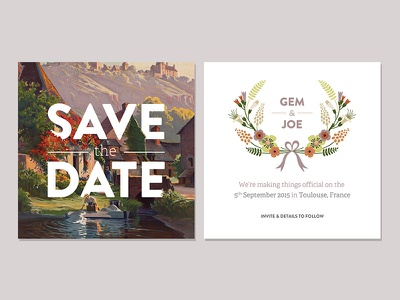 Save The Date save the date wedding typography