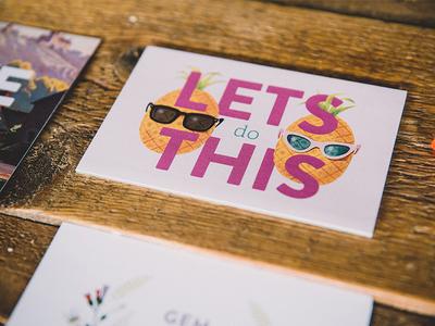 Invite print pineapples invitation wedding