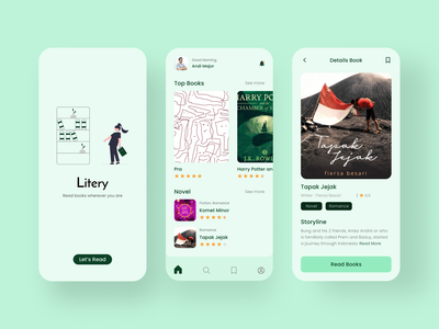 Litery bookshelf book app shots read bookstore bookshop books app haikal nurkalam litery white green books book app 3dillustration mobile illustration ux ui design