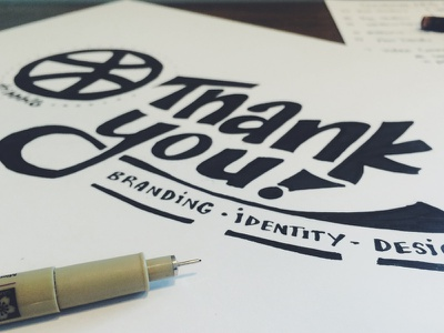 Thank You! micron handlettering lettering debut