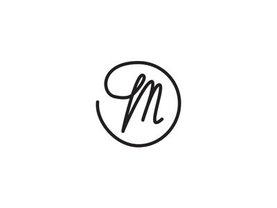 Matthias J. Barker Photography Logomark letterform type line clean