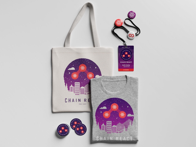 Chain React Attendee Swag pdx swag bag react native portland collateral swag branding conference