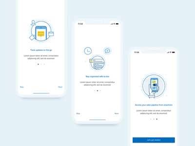Sales CRM Onboarding Screens ux ui circles minimal crm sales onboarding icon line icon illustration