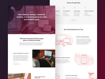 Infinite Red Design Landing Page webflow desktop layout website builder design illustration landing page website