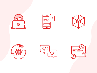 Developer Icons illustrations illustration line icons code icons set react native development icons