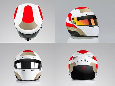 Allan Saleh helmet livery design