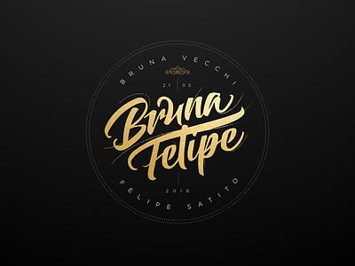 Bruna & Felipe wedding logo