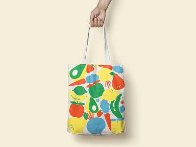 Emilie Tote restaurant branding branding fruits illustration food restaurant design tote