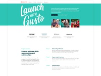 Launch with Gusto landing page