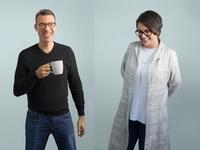 Leadership photoshoot - Tomer London and Tolithia Kornweibel