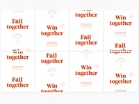 Fail together / win together posters: Concept 2