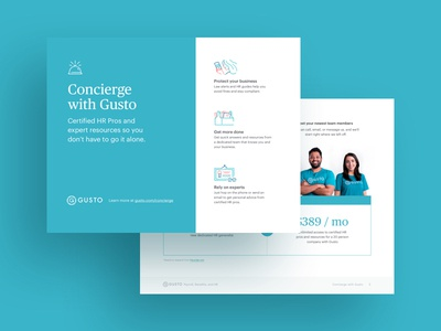 Gusto Concierge Hand out ebook white paper pdf handout gusto print