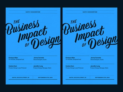 The Business Impact of Design posters print design graphic design gusto swiss typography print poster