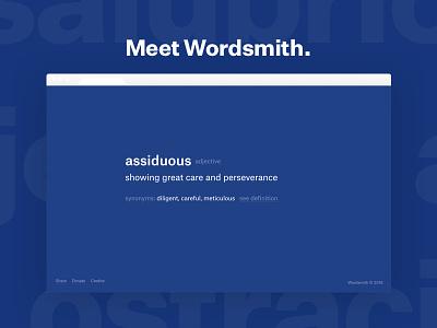 Wordsmith, a vocabulary Chrome Extension productivity tools chrome wordsmith sat graphic design design words dictionary vocabulary chrome extension