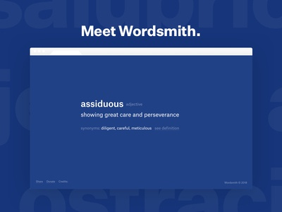 Wordsmith, a vocabulary Chrome Extension