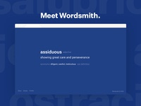 Wordsmith, a vocabulary Chrome Extension