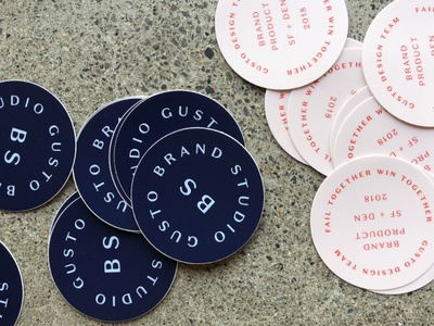 Gusto Design Stickers