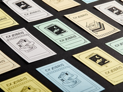 Ex Libris Book Plaques - Part II library ex libris graphic design sitckers print illustration book