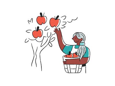 Gusto Illustration rebrand apples illustrations gusto