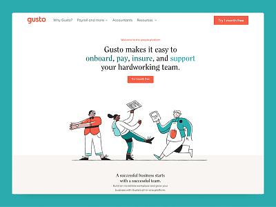 Gusto.com redesign web website rebrand webdesign redesign gusto