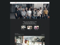Gusto brand video landing page