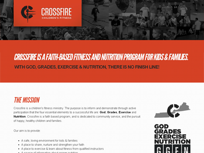 Continued Web Design Progress website layout fitness ministry logos gotham hero map photos league gothic italic