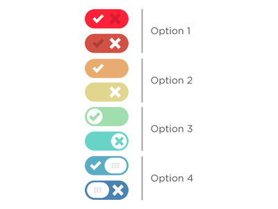 Concepts for Toggle Switches on a Panel ui toggle switch on off button slide clean nlog panel toggle switch