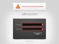 Management Login Screen