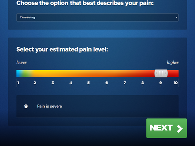 Slider Gradient health layout proxima-nova gotham grip ux app ui kiosk slider