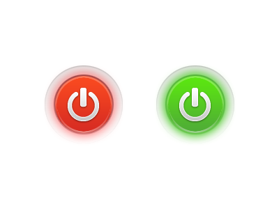 Power Buttons ui on off toggle switch