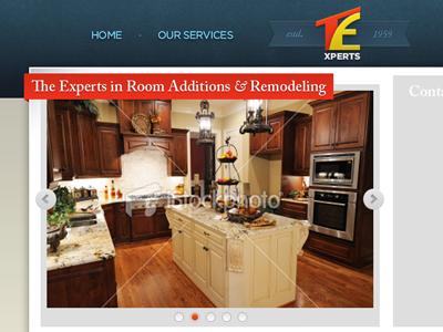 Website Design for The Experts website design layout logo navigation slider