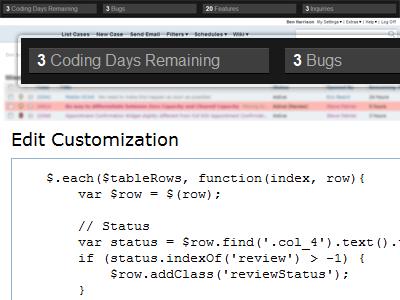 FogBugz Customizations fogbugz custom javascript time management project management ui