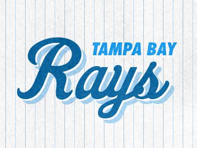 Tampa Bay Rays Retro Logo futura retro baseball logo fenway park