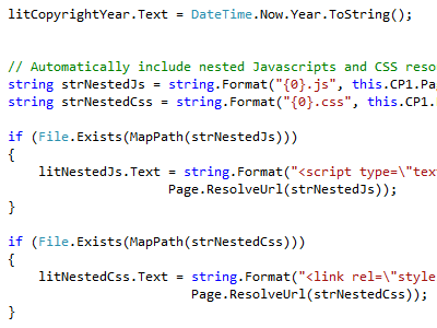 Organizing Javascript and CSS Resources .net webforms css javascript organization source code