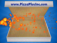 3D Pizza Box Animation
