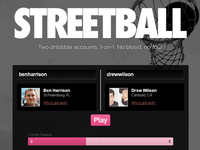 Streetball: a small dribbble API application