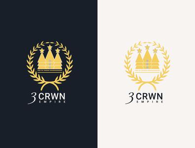 3CRWN Logo business branding design logo illustration
