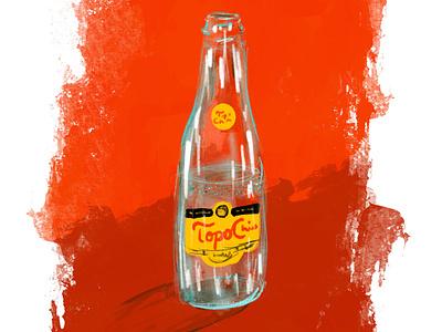 Topooooooooooo! fun digital painting design procreate illustration art mineral water water
