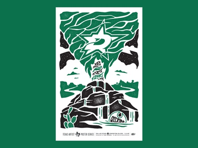 Dallas Stars vs. Edmonton Oilers Poster