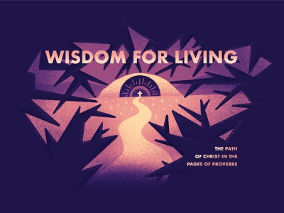 Wisdom for Living proverbs grass eye forest trees texture cross jesus design procreate illustration