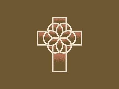 Jesus redeems everything vintage art flower cream brick dark green stained glass jesus design good friday easter death to life cross illustration texture vector