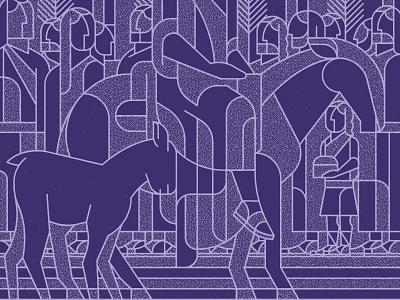Seasons: Lent 2 art vector illustration people donkey lamb palm sunday jesus purple stained glass design illustrator texture lent