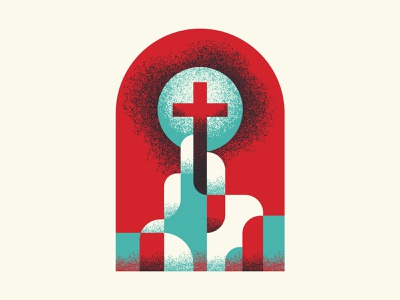 Chapter 4 path tangled cross charcoal teal art red illustration design texture vector