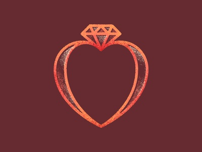 Unused marriage conference icon marriage diamond heart ring vintage design logo vector branding art texture illustration