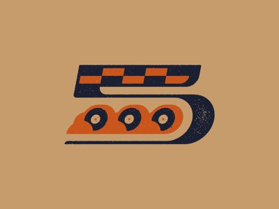 5000 Followers number checkered flag smoke tire typeography illustration branding art vector texture vintage racing 5000 0 5