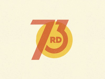 73rd 73rd numbers vintage circle red yellow 763rd