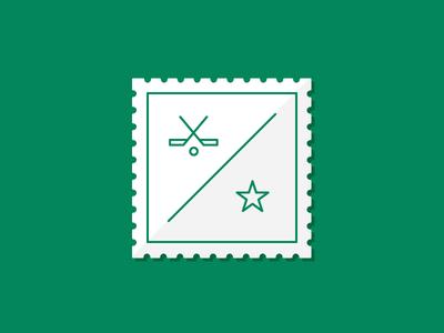 Dallas Stars Stamp