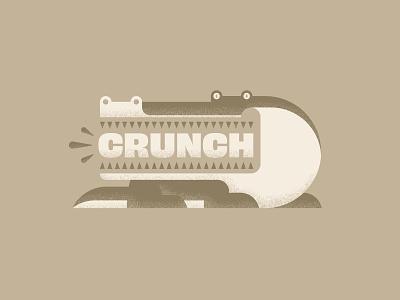 Crunch fun mouth eyes illustrator teeth aligator texture design art illustration vector